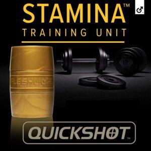 Fleshlight Quickshot | Stamina Training | Couples Sex Toy in Gold Case