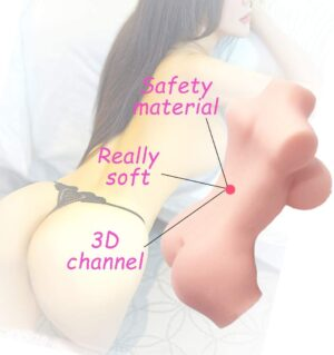 Sex Doll Male Masturbator Lifelike Adult Sex Toy with Vagina and Anal Pussy for Men Masturbation Realistic Big Breasts TPE Safe Silicone Love Doll Life-Sized